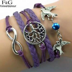 Jewelry - 5 Layer Purple Tree of Life Bracelet.